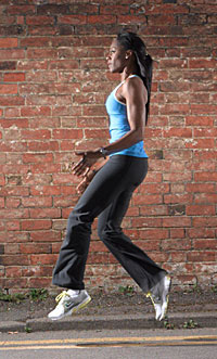 Jumping for cardio exercise